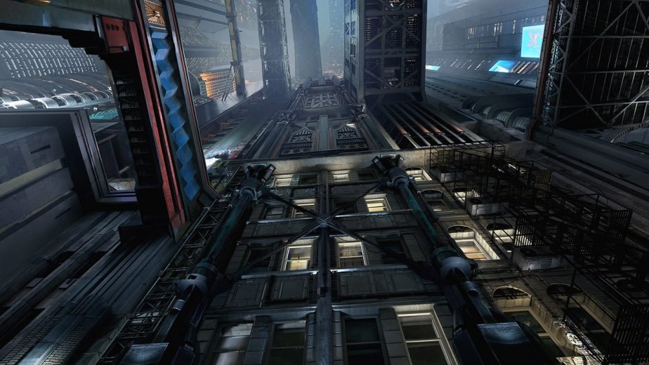 Cyberpunk's Setting Places a Heavy Emphasis on Verticality
