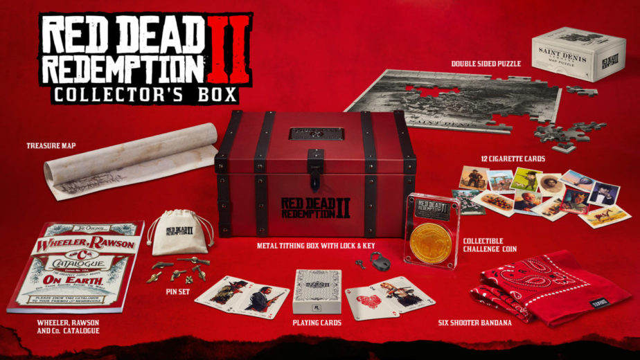 red dead redemption 2 special edition collector's edition ultimate edition pre-order xbox one ps4