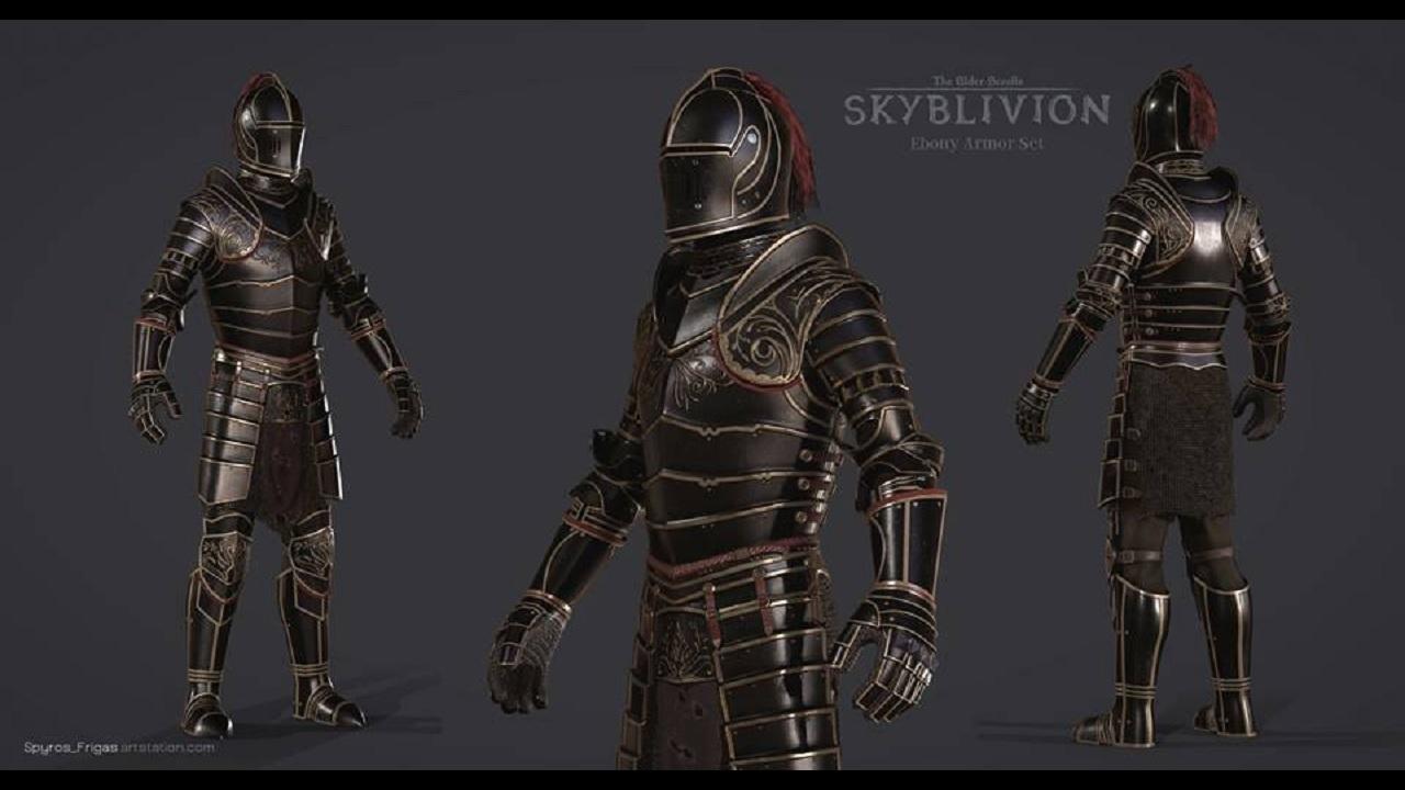 Skyblivion Mod Team Reveals Sleek New Look for Ebony Armor