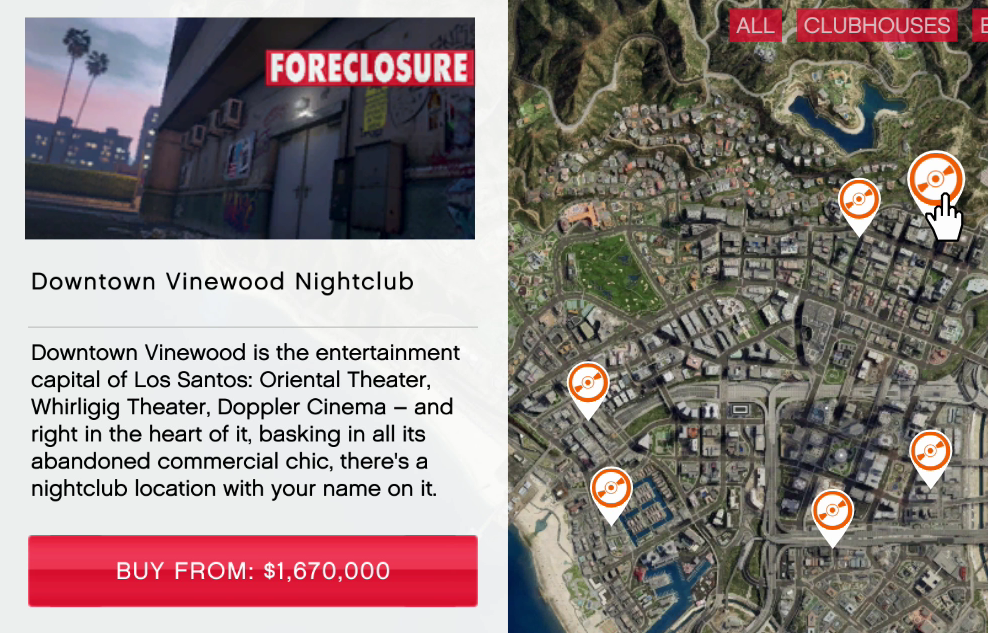 gta 5 grand theft auto online nightclubs vehicles list new locations prices