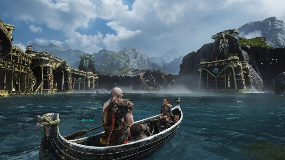 Plenty of Time is Spent Hearing Various God of War Tales While on the Lake of Nine