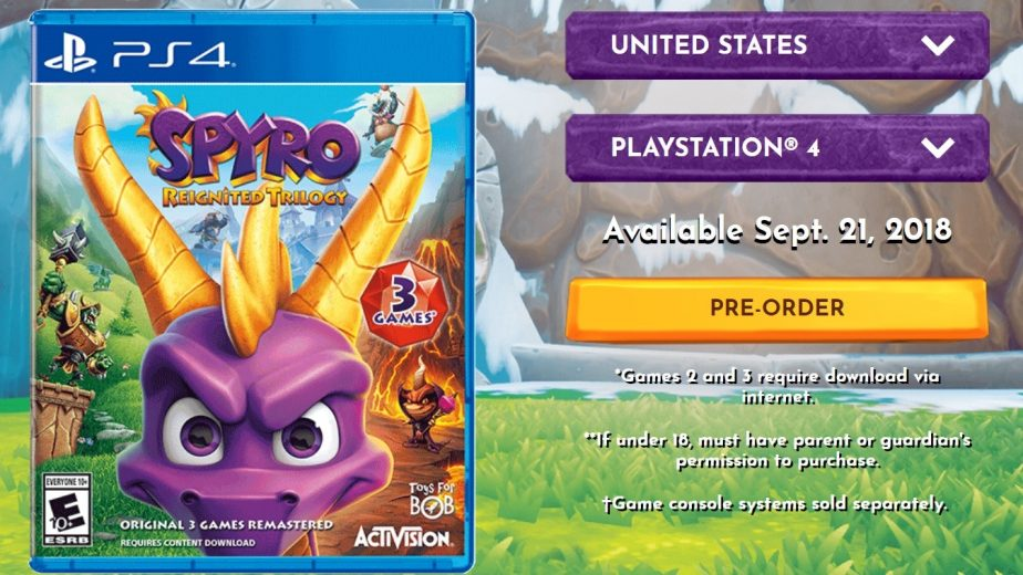 Only one game is included on the Spyro Reignited Trilogy disc
