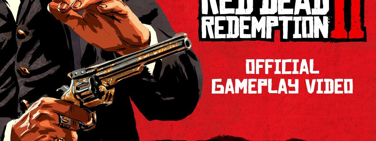 red dead redemption 2 gameplay video trailer footage info release date preorder