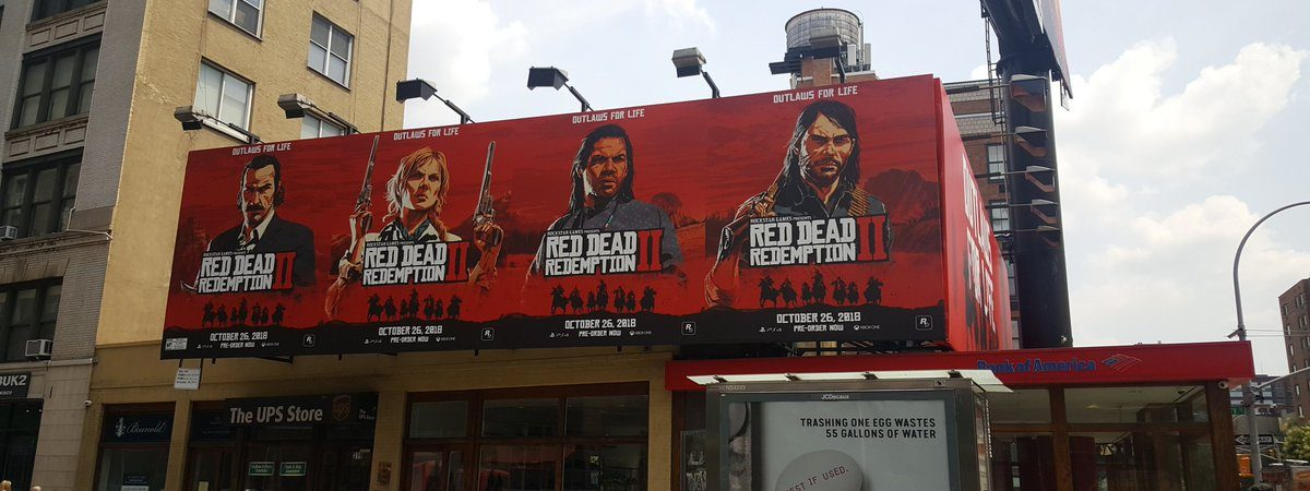 red dead redemption 2 artwork new nyc art poster marketing info news gameplay release date rdr2
