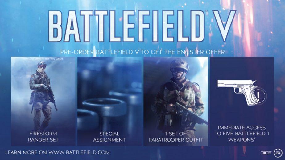 Battlefield 5 Pre-Order Bonuses Have Been Expanded
