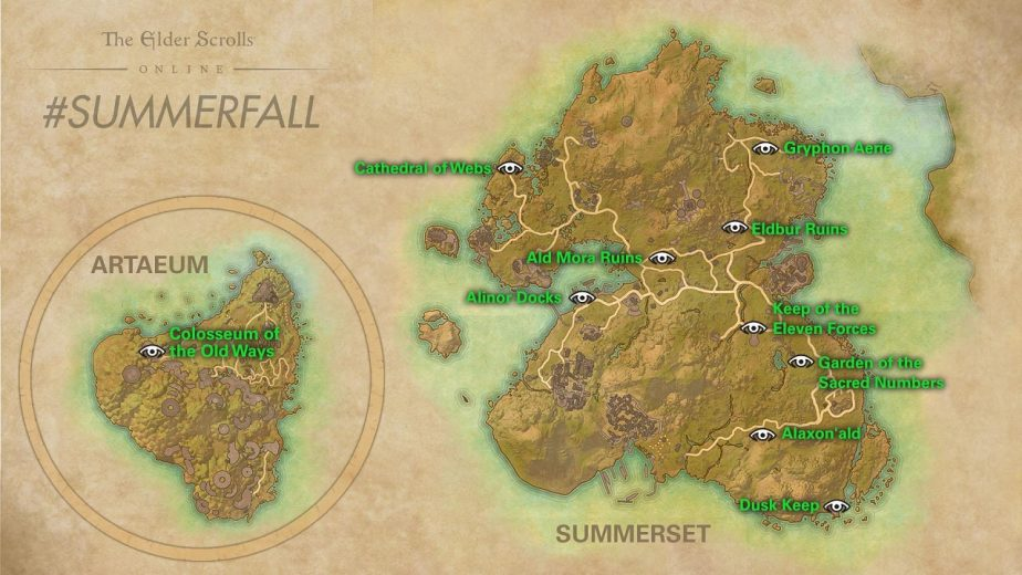 Players Must Complete the Summerset Pathfinder Achievement During Summerfall