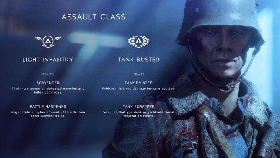 The Battlefield 5 Assault Class Has Two Combat Roles at Launch