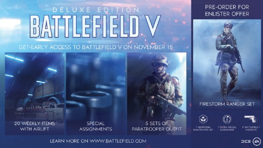 The Battlefield 5 Deluxe Edition Now Includes the Firestorm Ranger