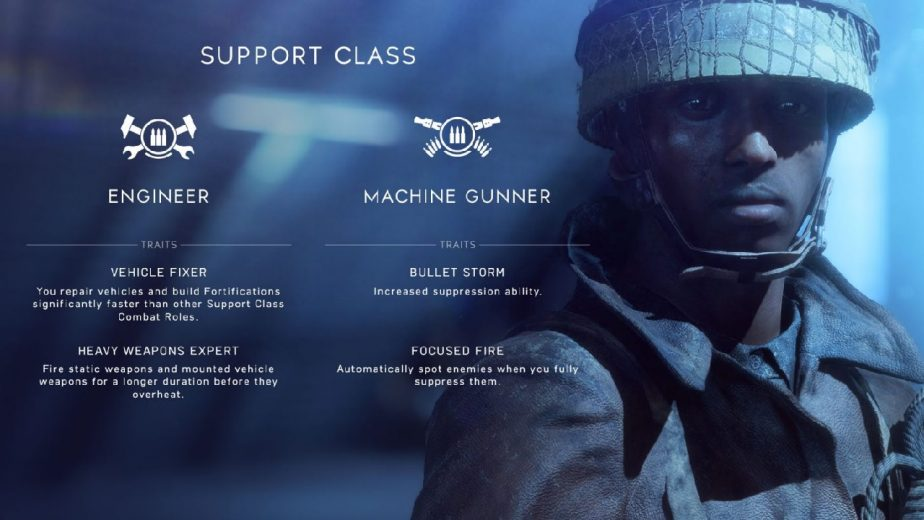 The Battlefield 5 Engineer Class Will Start With Two Combat Roles