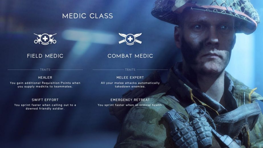 The Battlefield 5 Medic Class Has Two Combat Roles at Launch