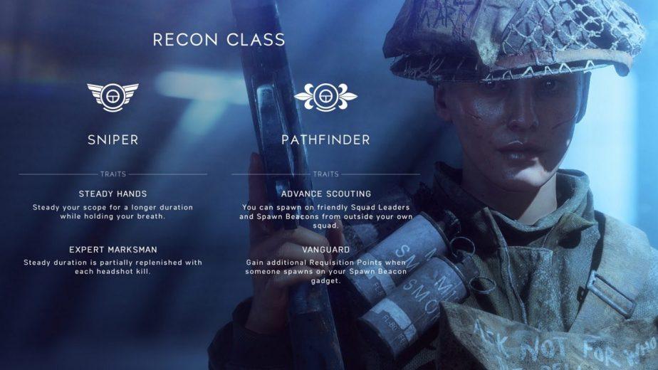 The Battlefield 5 Recon Class Will Start With Two Combat Roles