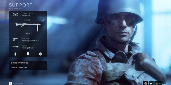 The Battlefield 5 Support Class is the Most Heavily Armed Class