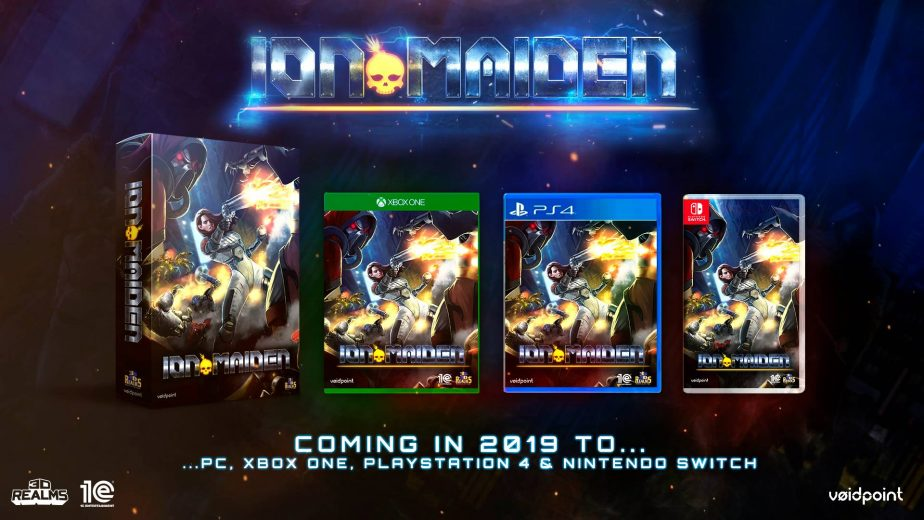 Ion Maiden Coming To PC, XB1, PS4 and Switch in 2019