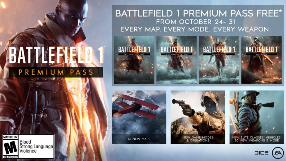 Battlefield 1 Premium Pass Free for a Limited Time