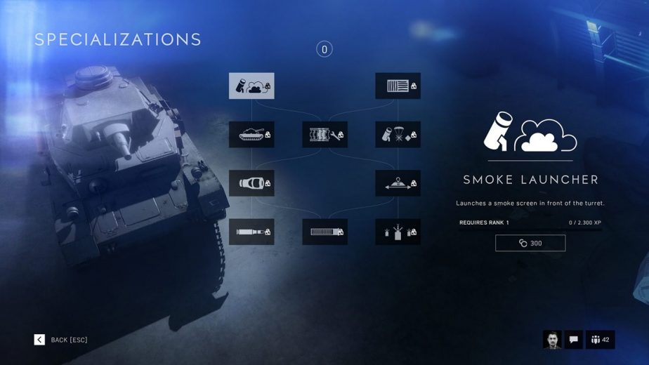 Battlefield 5 Vehicle Specialisations Are Divided Into 3 Trees