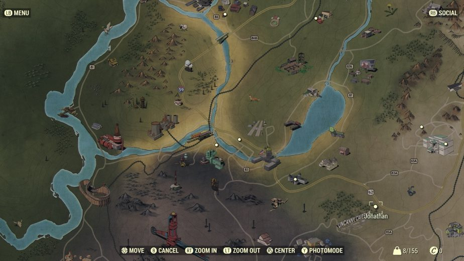 Bethesda Reveals the In-Game Fallout 76 Map