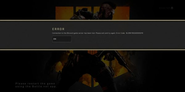COD Black Ops 4 Connection Lost Error: How to Fix