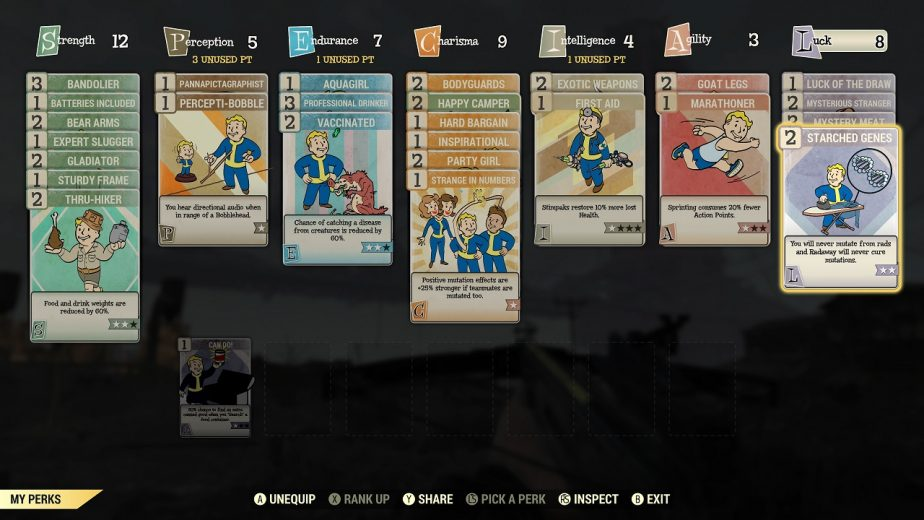 Fallout 76 Perk Cards Are a Major Change for the Series