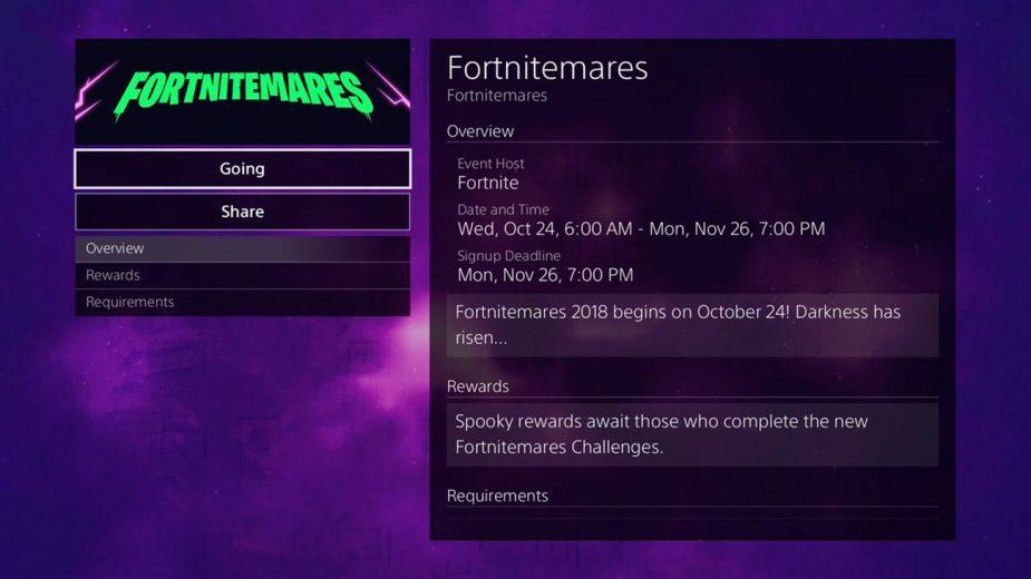 Fortnitemares event will start on October 24