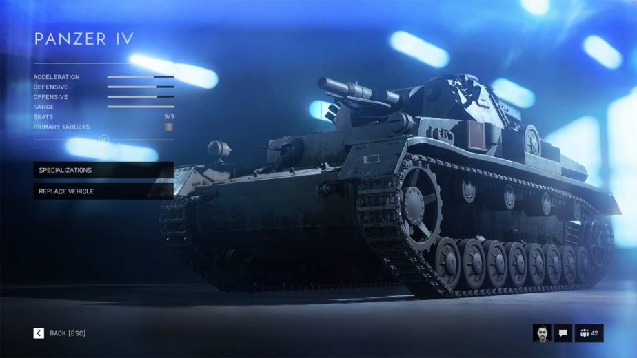 The Panzer IV is Used as an Example of the Battlefield 5 Vehicle Specialisation System