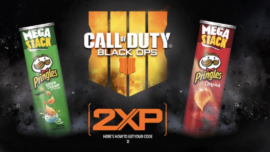 Call of Duty Black Ops 4 and Pringles come together.