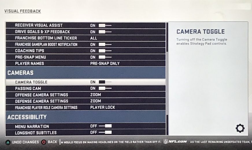 How to Change the Camera Angle in Madden 19 For PS4, Xbox One