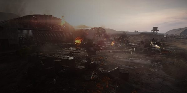 Aerodrome Takes Place in the Wreckage of an Axis Airbase