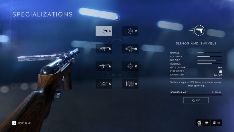 Battlefield 5 Weapons Can be Specialised