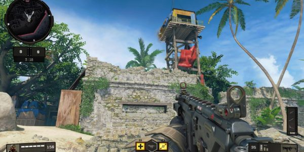 "Call of Duty: Black Ops 4's ""Contraband"" map is a gorgeous mixture of jungle and beach."