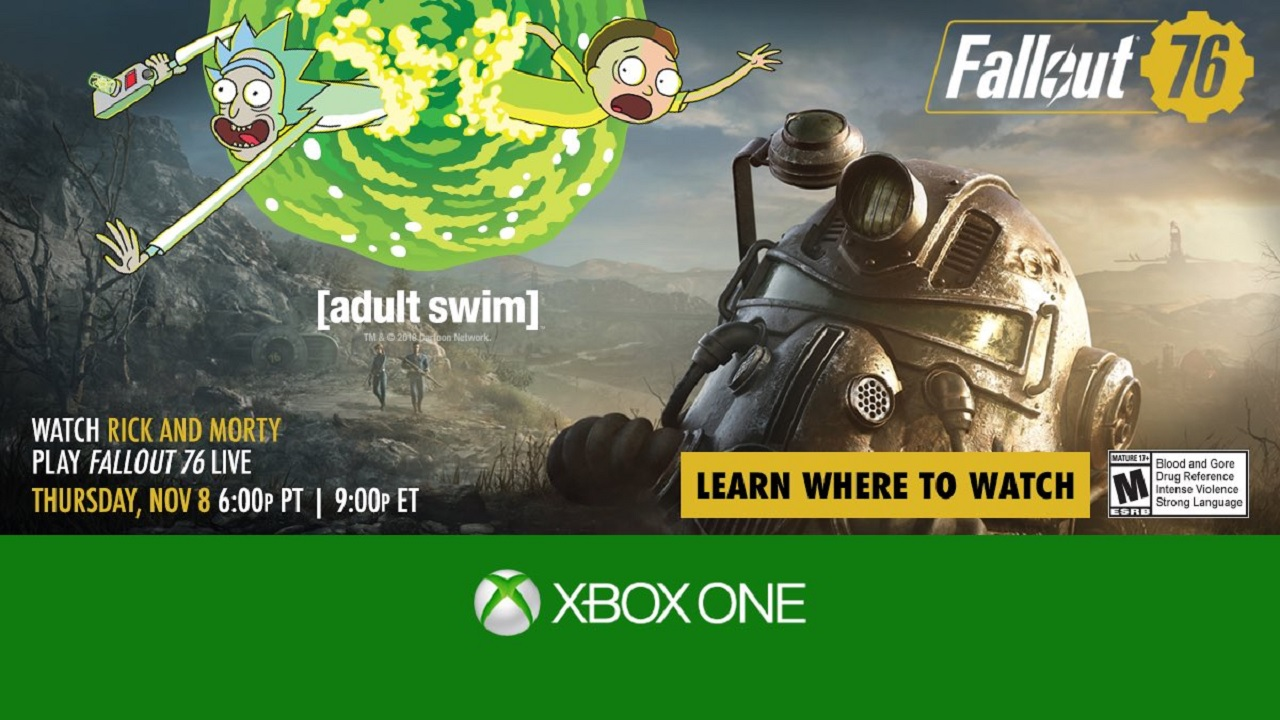 Thursday watch Ninja, Logic and Rick and Morty play Fallout 76 live on Twitch.