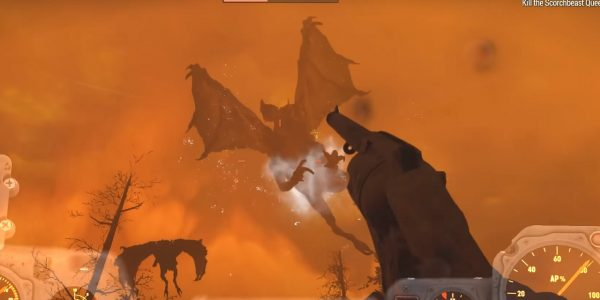 Fallout 76 Boss Scorchbeast Queen Appears