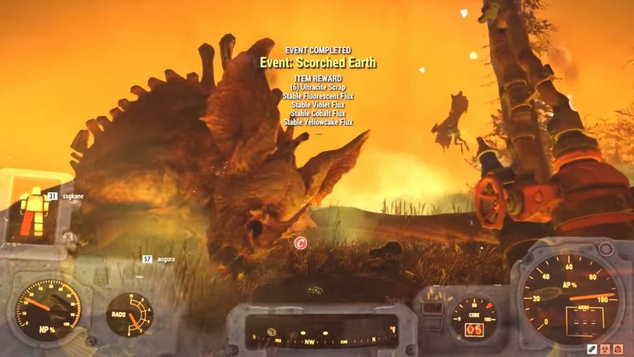 Fallout 76 Players Discover Scorchbeast Queen End-Game Boss