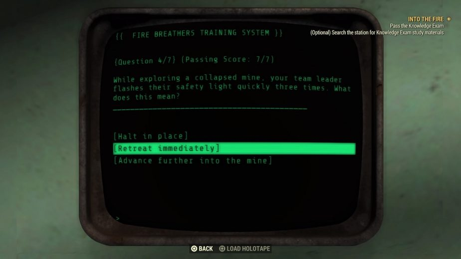 How to Answer the Fallout 76 Fire Breathers Test Correctly