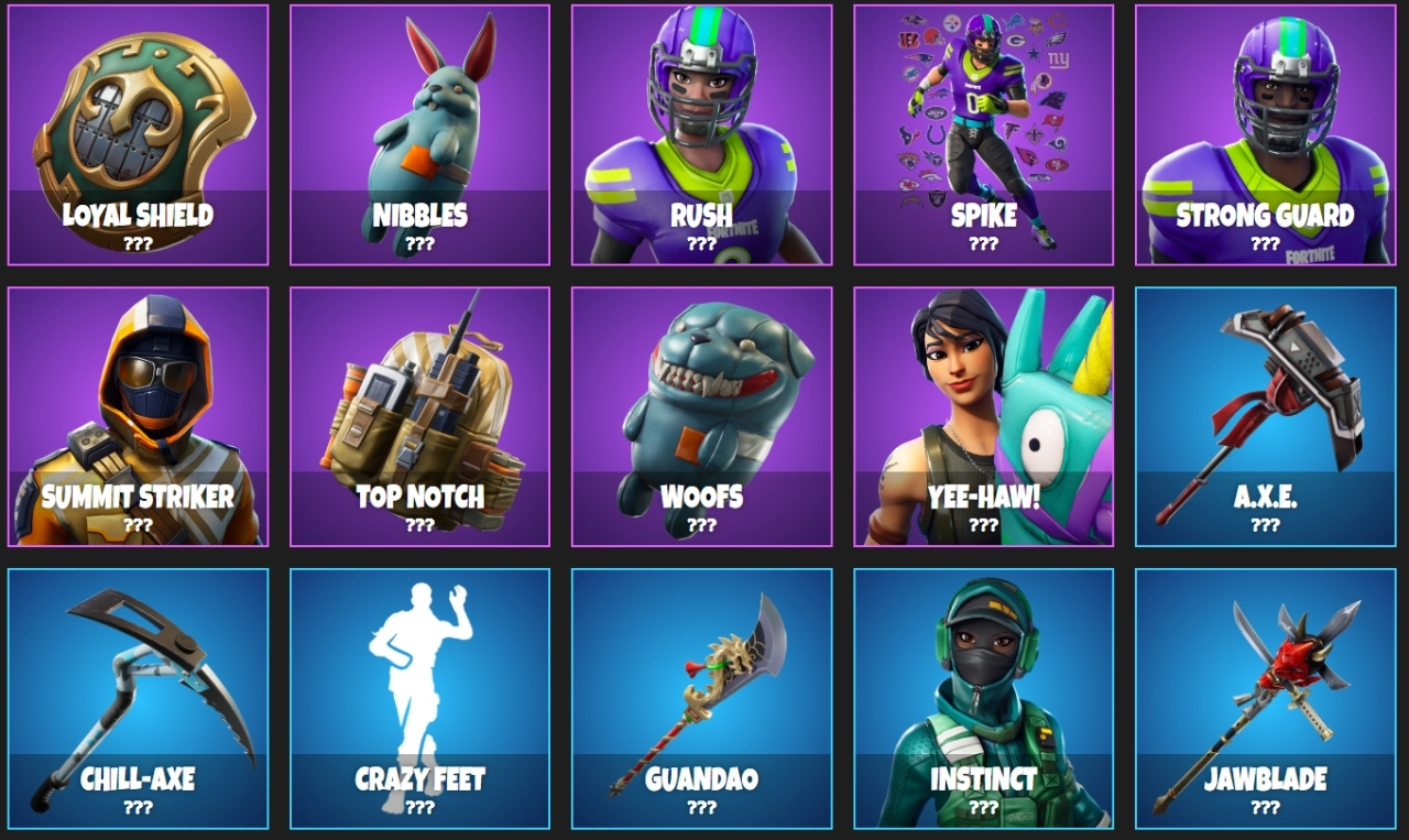 leaked fortnite season 6 items batch 2 - fortnite item shop upcoming