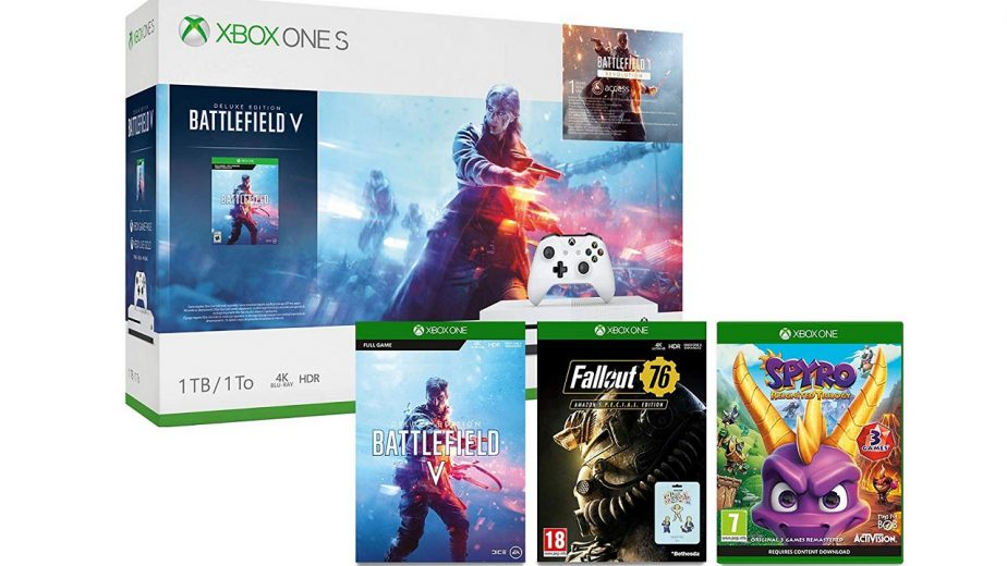 Amazon Offers Xbox One S with Battlefield 5, Fallout 76, and