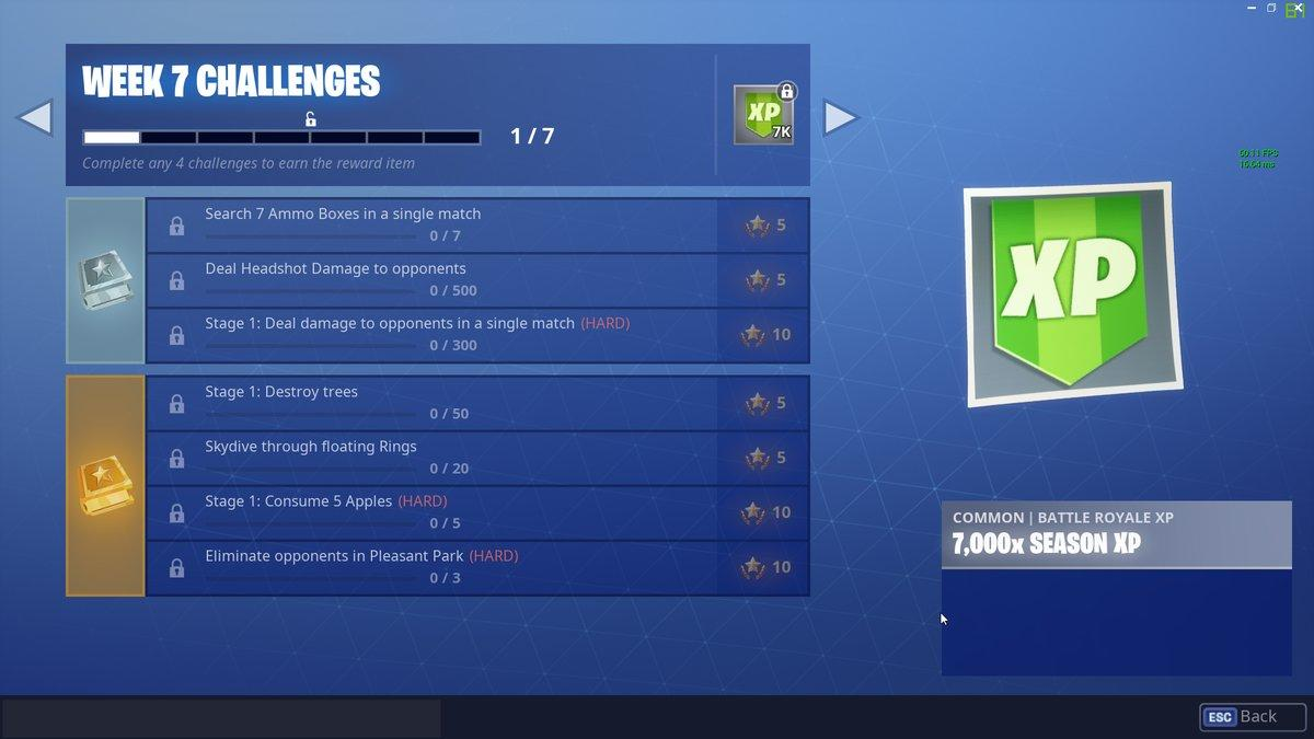 The Fortnite Season 6 Week 7 Challenges have just been leaked.