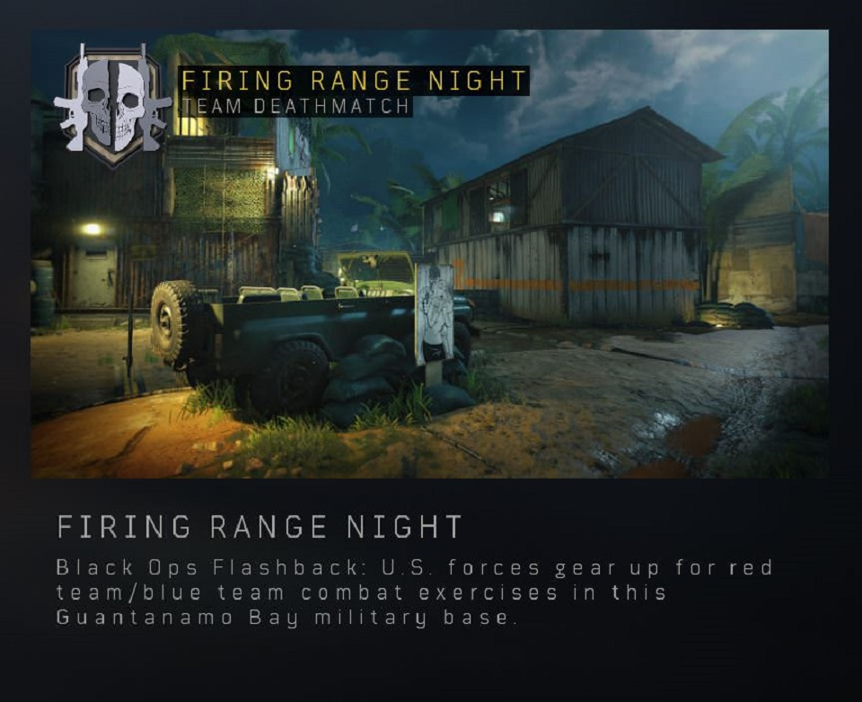 Call of Duty Black Ops 4's Firing Range Night.