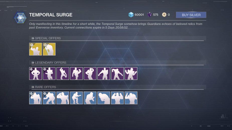 Destiny 2's Temporal Surge is now live.