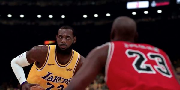 11ab26146e4 NBA 2K19 Highlights Michael Jordan   LeBron James