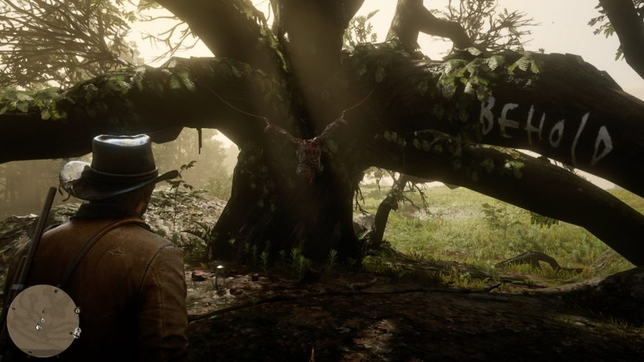Red Dead Redemption 2's American Dreams side mission involves some gruesome crime scenes.