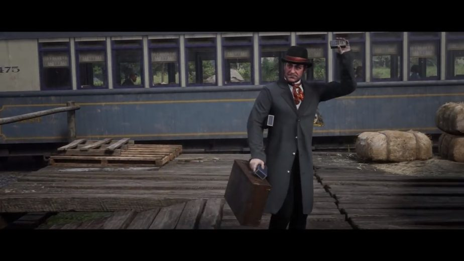 Phineas T. Ramsbottom kicks off the Cigarette Cards side mission in Red Dead Redemption 2.