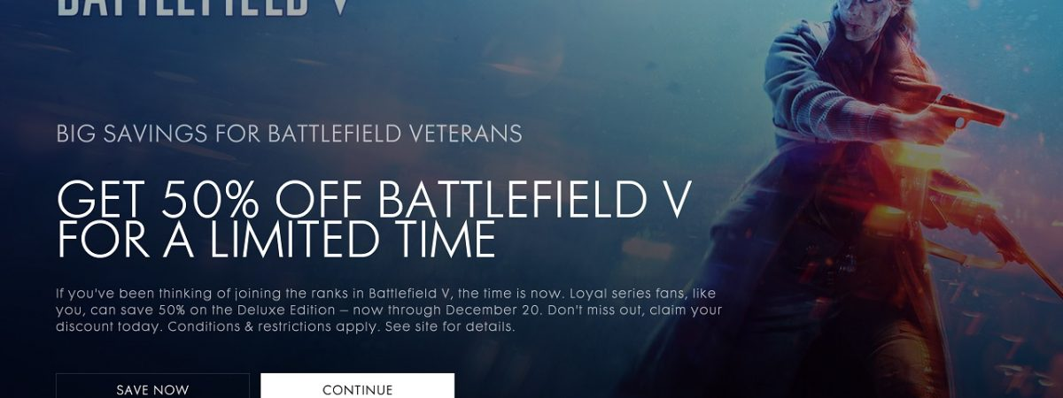 Battlefield 5 Sale Now Available Through December