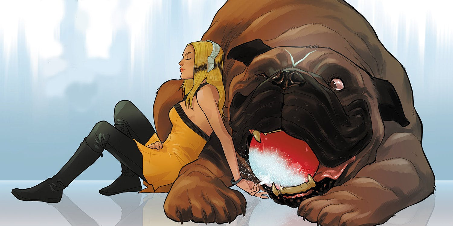 Lockjaw Enjoys A Nice Refresher From Crystal
