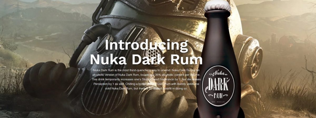 Fallout 76 Nuka Dark Rum Comes in a Plastic Bottle