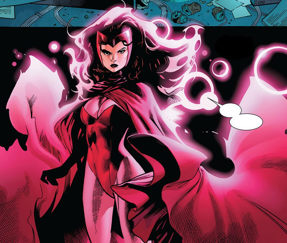 Scarlet Witch Rocks Her Classic Red Look