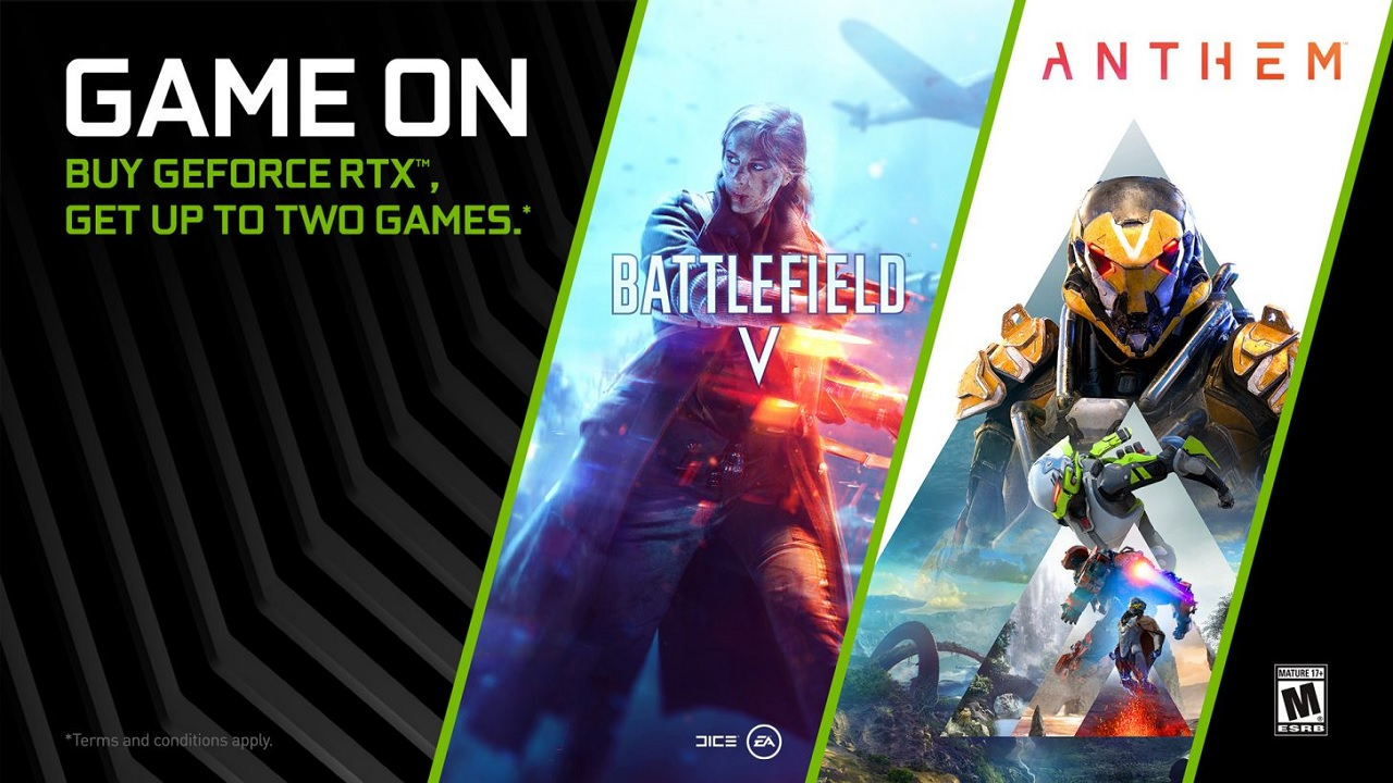 NVIDIA Customers Can Get Both Anthem and Battlefield 5 for Free