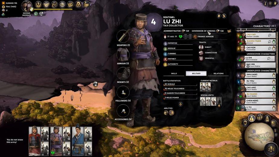 Total War Three Kingdoms Five Attributes