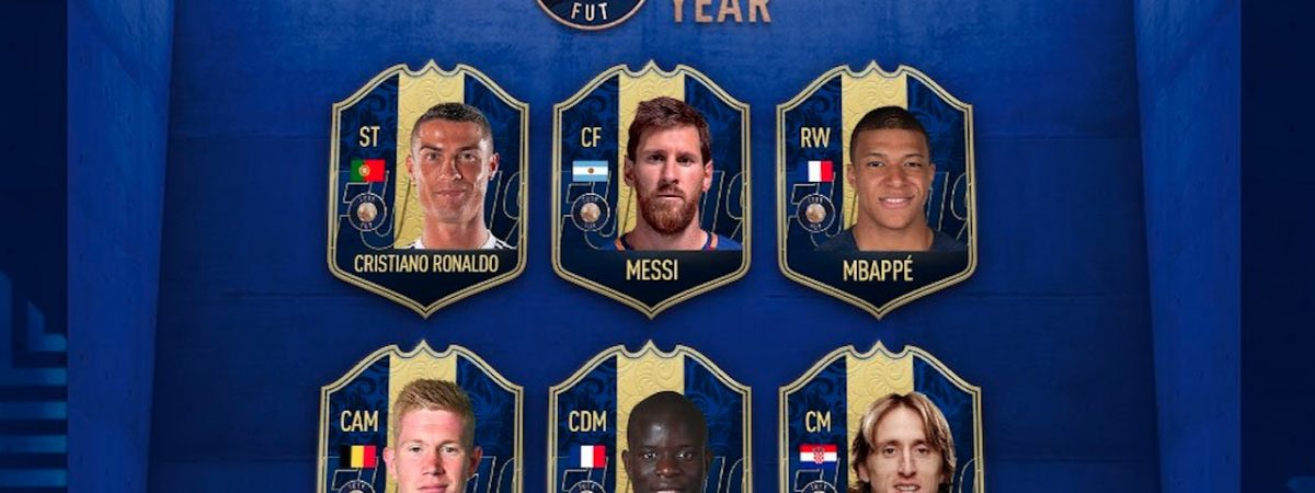 fifa 19 team of the year messi mbappe ronaldo