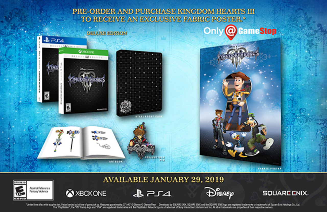 kingdom hearts 3 deluxe edition contents