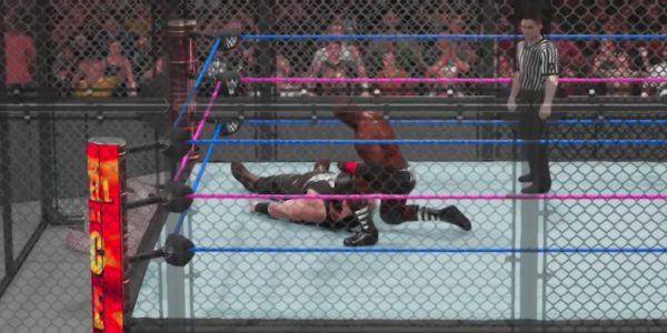 wwe 2k19 hell in a cell how to break cell play match win